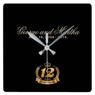Feiern des 12. Jahrestages. Kundengerecht Uhren