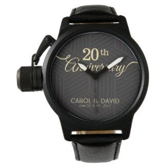 Feiern des 20. Jahrestages. Kundengerecht Armbanduhr