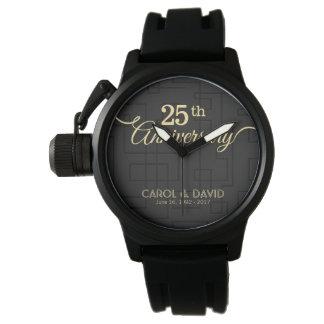 Feiern des 25. Jahrestages. Kundengerecht Uhr