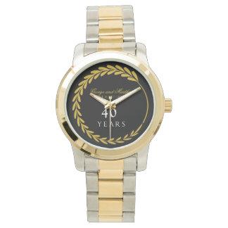 Feiern des 40. Jahrestages. Kundengerecht Armbanduhr