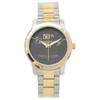 Feiern des 50. Jahrestages. Kundengerecht Uhr