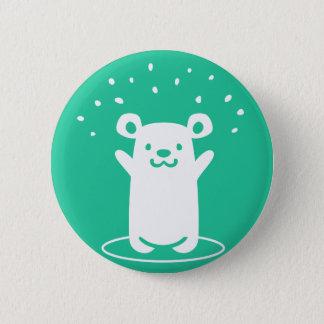 Feiern des glücklichen Bären Runder Button 5,7 Cm