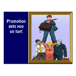 Feiern einer Werbeaktion Postkarten