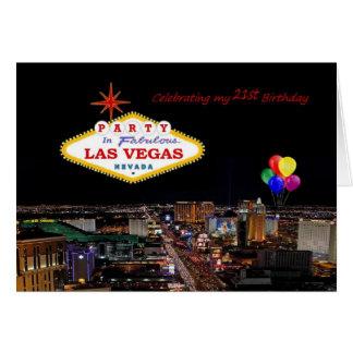 Feiern meiner 21. Geburtstags-Party-Las- Karte