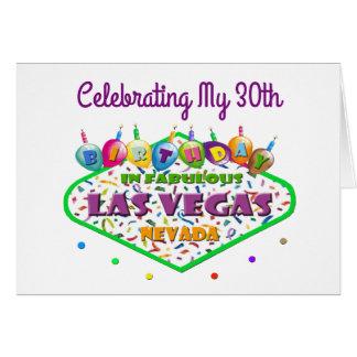 Feiern meiner 30. Las Vegas-Geburtstags-Karte Karte