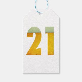 Feiern Sie 21. Geburtstag Geschenkanhänger