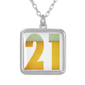 Feiern Sie 21. Geburtstag Versilberte Kette