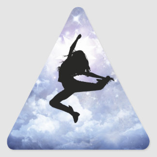 Feiern Sie das Leben und beleuchten Sie Dreieckiger Aufkleber
