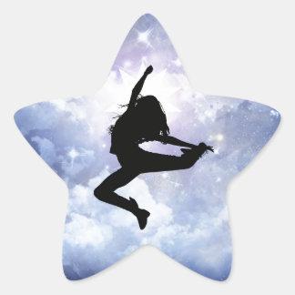 Feiern Sie das Leben und beleuchten Sie Stern-Aufkleber