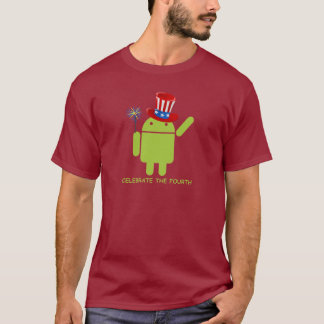 Feiern Sie das vierte (androide Wanze Droid) T-Shirt