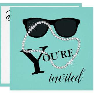 Feiern Sie Diamanttiara-Party-Duschen-Einladung Karte
