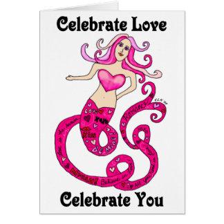 Feiern Sie die Karte Liebe-Meerjungfrauvalentines