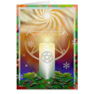Feiern Sie die Wärme des Weihnachtens Sun Grußkarte