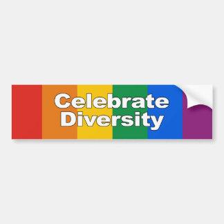 Feiern Sie Diversity 2 Autoaufkleber