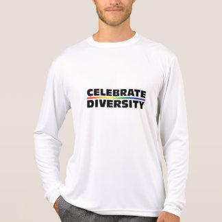 Feiern Sie Diversity-Leistung Mikro-Faser langes S T-Shirt