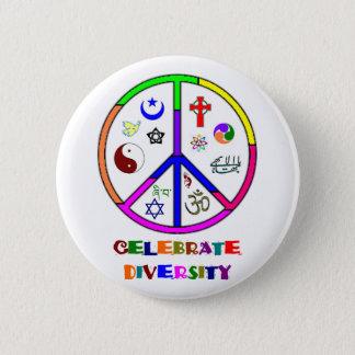 Feiern Sie Diversity Runder Button 5,7 Cm