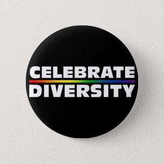 Feiern Sie Diversity-schwarzen Knopf Runder Button 5,1 Cm