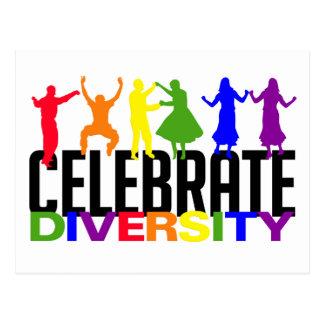 Feiern Sie Diversitypostkarte Postkarten