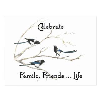 Feiern Sie Familie Postkarte