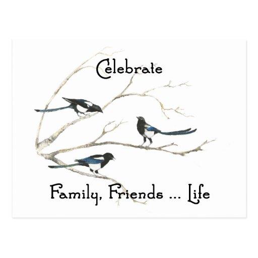 Feiern Sie Familie, Postkarte