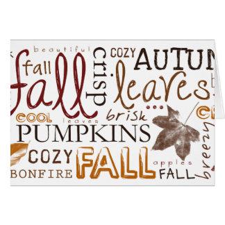 Feiern Sie Herbst-Erntedankgrüße Karte