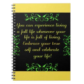 Feiern Sie Ihr Leben 2 Notizblock