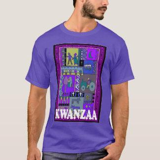 Feiern Sie Kwanzaa, afrikanische Collage T-Shirt