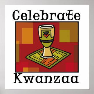Feiern Sie Kwanzaa Plakatdruck