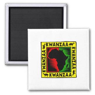 Feiern Sie Kwanzaa Quadratischer Magnet