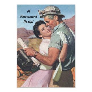 Feiern Sie mit Spaß-Retro Ruhestands-Party 8,9 X 12,7 Cm Einladungskarte