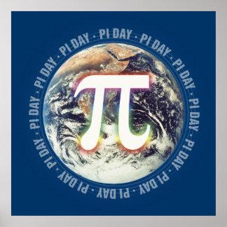 Feiern Sie PU-Tag auf Mathe der Erde| Poster