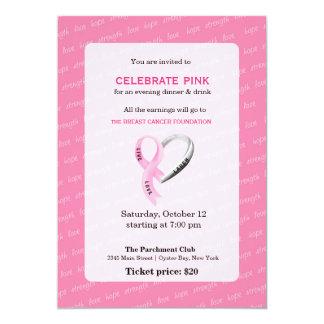 Feiern Sie rosa Ereignis Karte