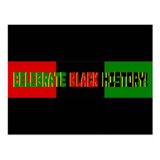 Feiern Sie schwarze Geschichte--Rote, schwarze u. Postkarte