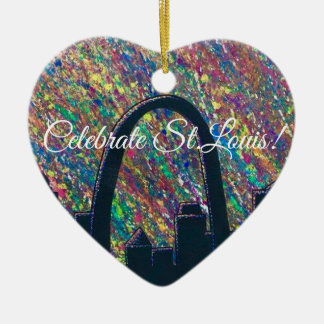 Feiern Sie St.- Louisverzierung Keramik Ornament