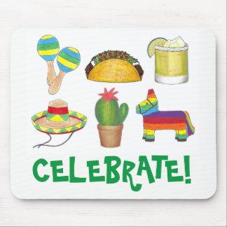 Feiern Sie taco-Kaktus Cinco Des Mayo FiestaPinata Mauspad