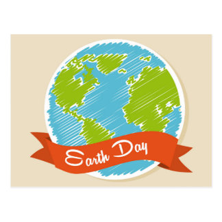 Feiern Sie Tag der Erde - 22. April Postkarte