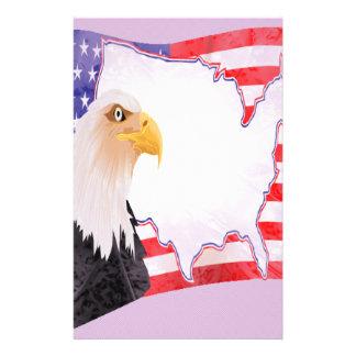 Feiern Sie Unabhängigkeit Eagle Briefpapier