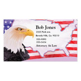 Feiern Sie Unabhängigkeit Eagle Visitenkartenvorlage