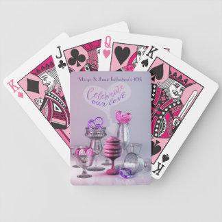 Feiern Sie unser Liebevalentine-Herz-Cocktail-Glas Bicycle Spielkarten