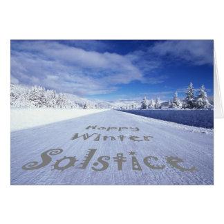 Feiern Sie Wintersonnenwende Grußkarte