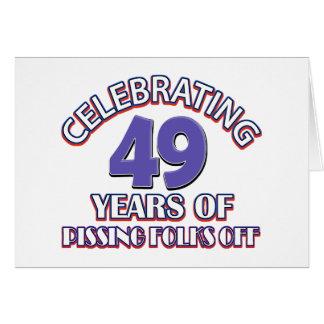 Feiern von 49 Jahren der anhebenden Hölle Karte