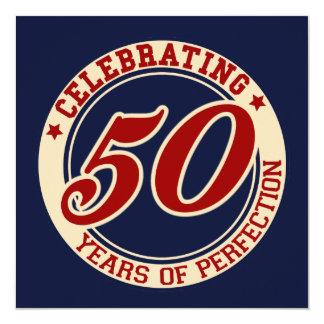 Feiern von 50 Jahren Perfektion Quadratische 13,3 Cm Einladungskarte