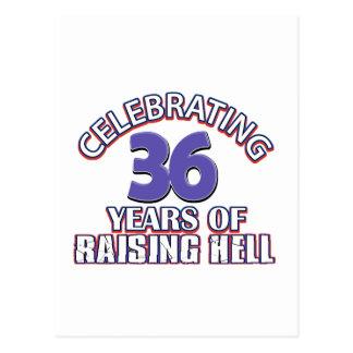 Feiern von 6 Jahren der anhebenden Hölle Postkarte