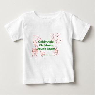Feiern Weihnachtsdes australischen Baby T-shirt