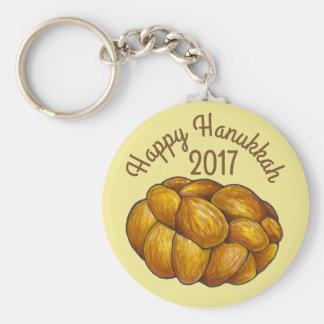 Feiertag Challah-Brot-glücklicher Chanukkas Schlüsselanhänger
