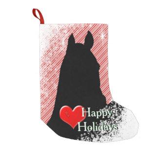 Feiertag der Herz-Pferdi (Zuckerstange Bkgrd) Kleiner Weihnachtsstrumpf