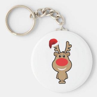 Feiertag des lustigen Weihnachten Sankt Standard Runder Schlüsselanhänger
