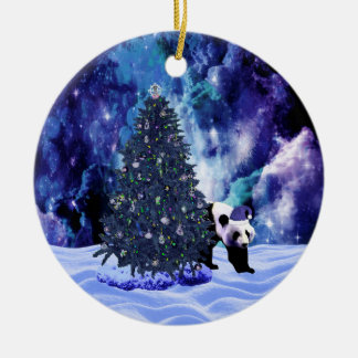 Feiertag des Pandas Weihnachtsbeim Nordpol Keramik Ornament