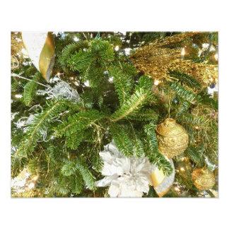 Feiertag des Silber-und Goldweihnachtsbaum-I Fotodruck