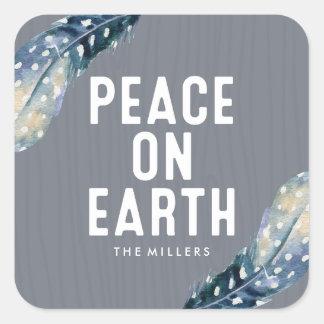Feiertag des Weltfrieden-  Quadratischer Aufkleber